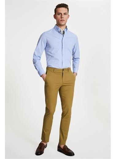 Damat Slim Fit Lime Chino Pantolon Sarı